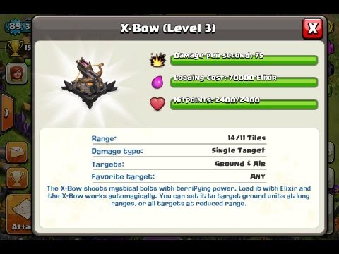 Clash of Clans  X-Bow Level 3 X-bogen level 3