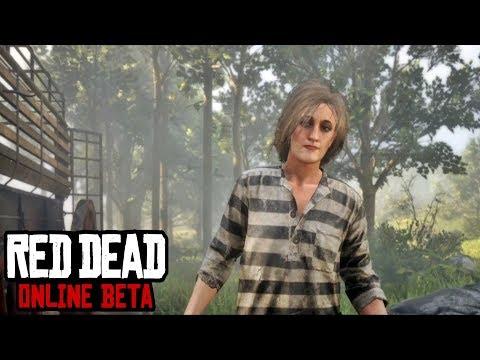 Red Dead Online Beta - Female Intro Cutscene (Prison Break Mission)