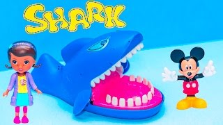 SHARK Game Doc McStuffins Play Mickey Mouse in Shark 2 Game Toys Video Unboxing