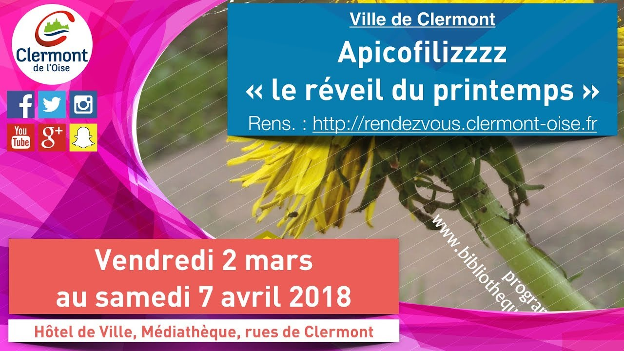 Clermont vous donne rendez vous : Mars 2018 (maj 26 février)