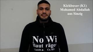 Mohamed Abdallah zum Titelkampf am 11. März 2018 in Koblenz