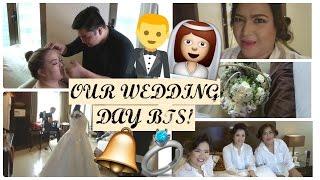 WEDDING DAY BTS! + BRIDAL SUITE ROOM TOUR! PhillineInaVlogs