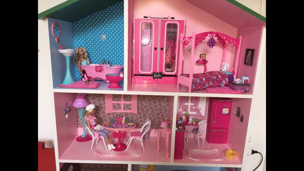 Minha casa da barbie customizada mdf mikaela sofhia - Supercasa de barbie ...