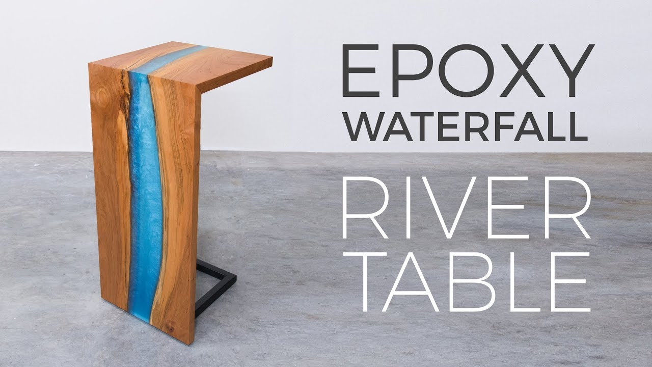 Floating Desk Australia Floating Epoxy Waterfall River Table Woodworking How To Build