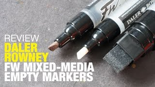 Review: Daler Rowney FW Mixed Media Markers