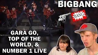 BIGBANG - GARA GARA GO, TOP OF THE WORLD, & NUMBER 1 LIVE 2014 (COUPLE REACTION!) | WOOOOOOOOOO