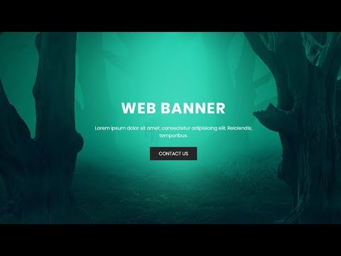Full screen responsive banner with css flexbox | flexbox examples