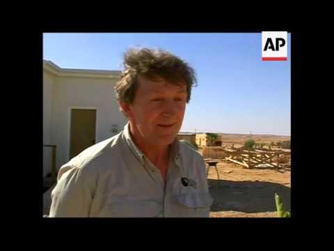 Solar powered houses being built in the Israeli desert