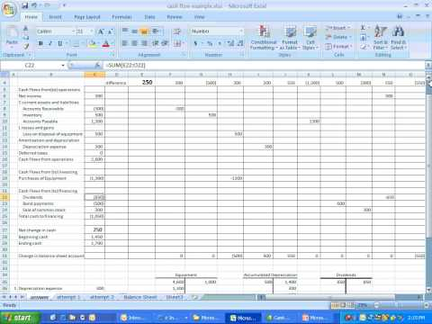 Accounting Statement Of Cash Flows Tutorial Case Study Lecture