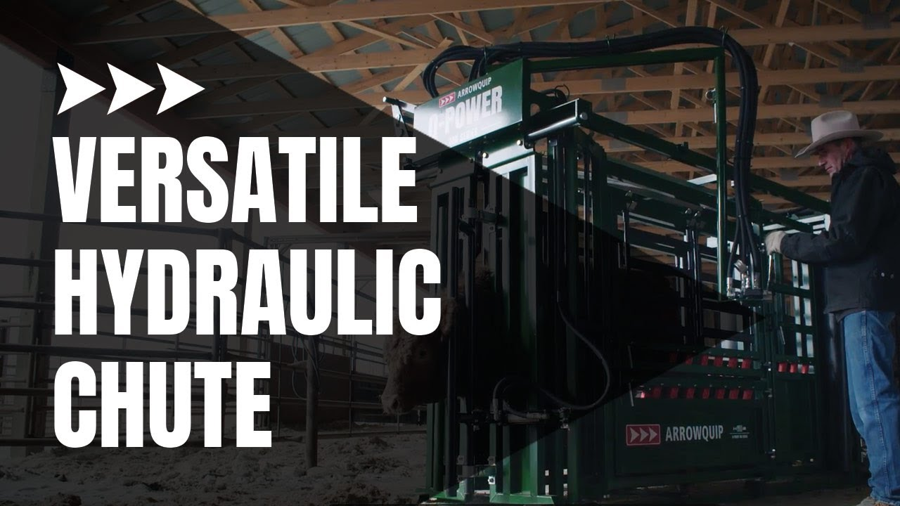 Hydraulic Cattle Chute New Power Series Arrowquip Youtube