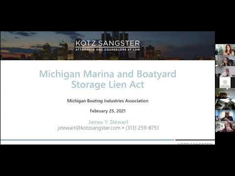 Boat Storage Lien Act Webinar 2 25 21