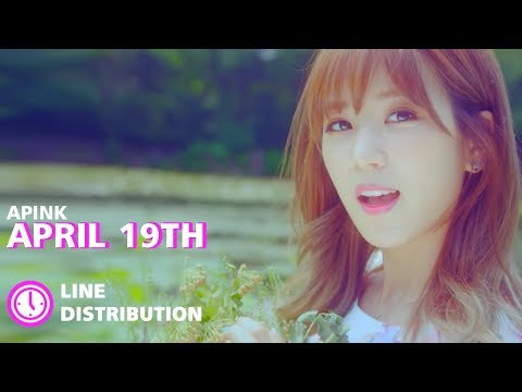 APINK - April 19th : Line Distribution (Color Coded)