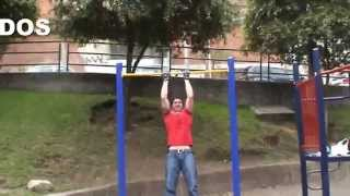 rutina de barras para ejercitar biceps triceps antebrazo espalda
