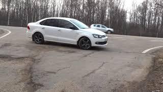 Установка лип-спойлера на VW Polo sedan