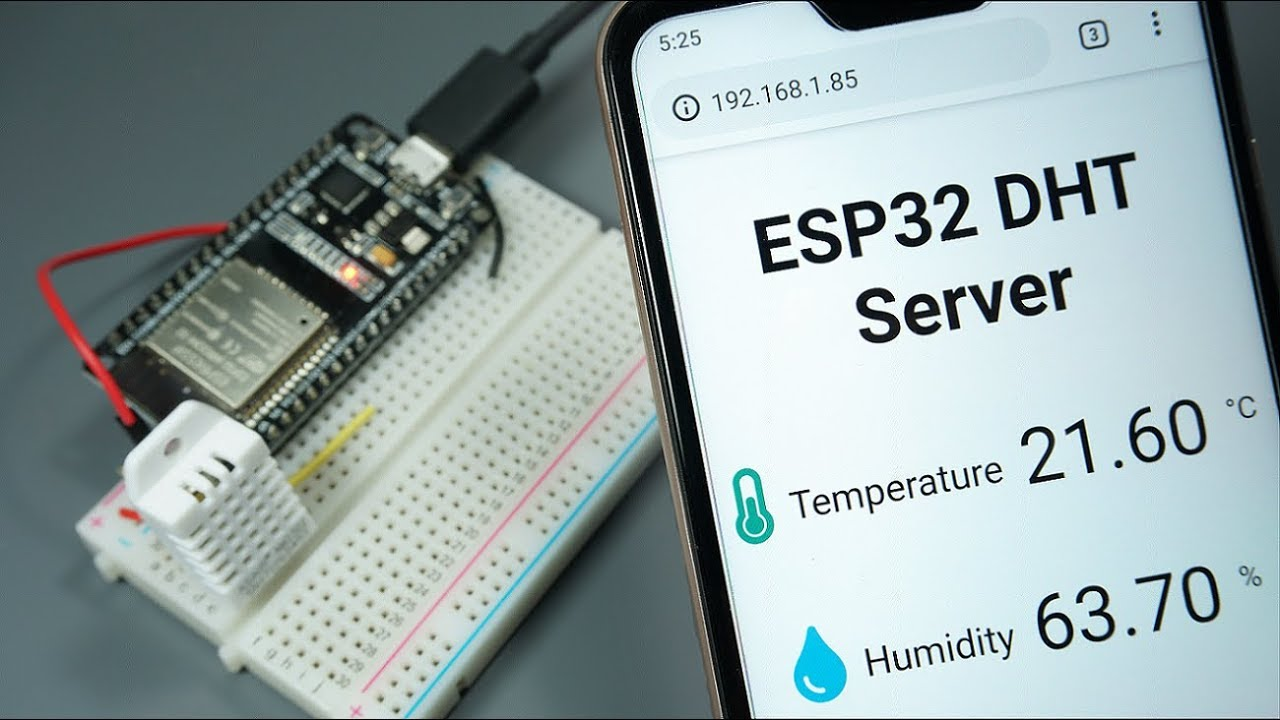 ESP32 DHT11/DHT22 Web Server using Arduino IDE | Random Nerd Tutorials