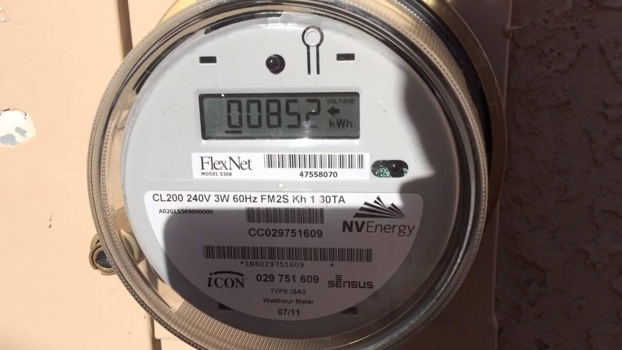 Net Meter Reading : How to read an nv energy solar net meter youtube