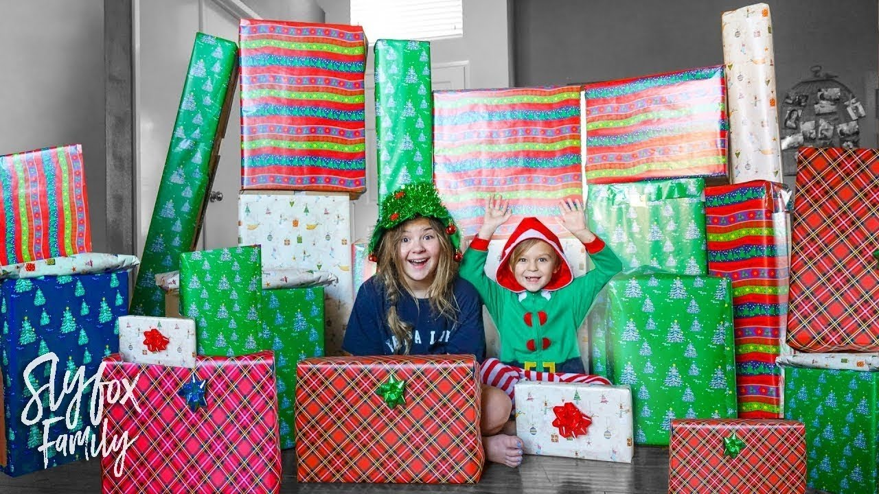 Opening Early Surprise Christmas Presents Huge Surprise