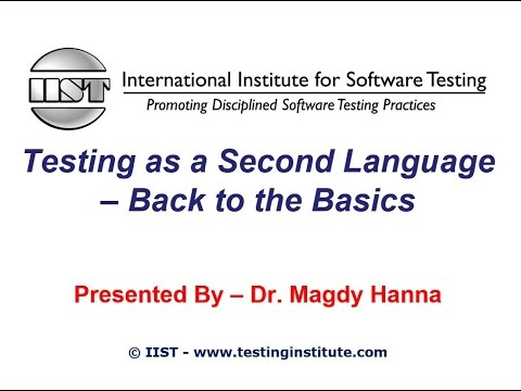 Software Testing Training | Testing as a Second Language Bac