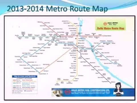 Delhi Metro & Rapid Metro Route Map 2014