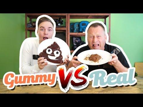 GUMMY FOOD VS REAL FOOD CHALLENGE
