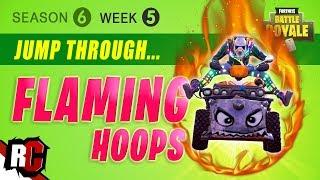 Fortnite WEEK 5 Jump Through Flaming Hoops (Season 6 Challenge / All Flaming Hoop Locations)