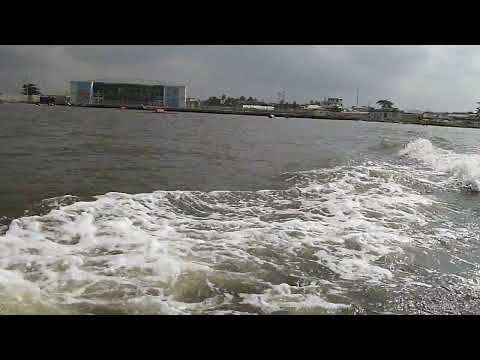 Lagos lagoon. Ikorodu to Victoria Island by sea - speed boat