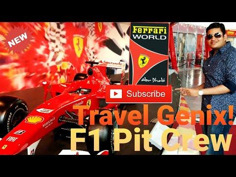 F1 Pit Crew Training   Formula 1 Car 🚘   Ferrari World Abu Dhabi   #TravelGenix!