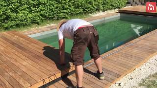 Incredible Disappearing Swimming Pool Cover Doubles As A Deck