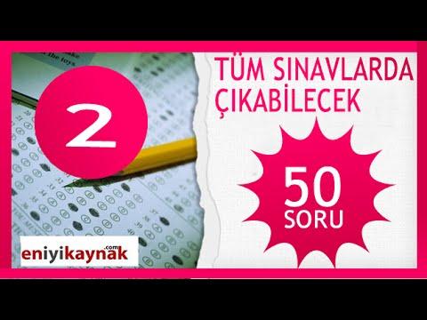 Tüm Sınavlarda çıkabilecek   50 SORU GENEL KÜLTÜR SORUSU  #2 #SORU