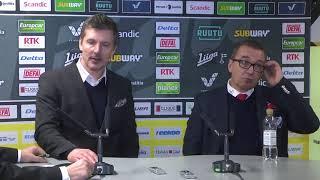 SaiPa-HIFK -lehdistötilaisuus 5.1.2018