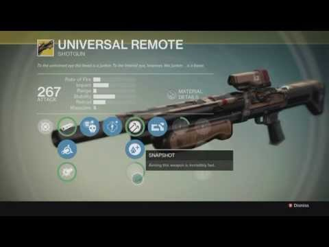 Universal Remote Exotic Primary Shotgun Review with Epic PvP Demo