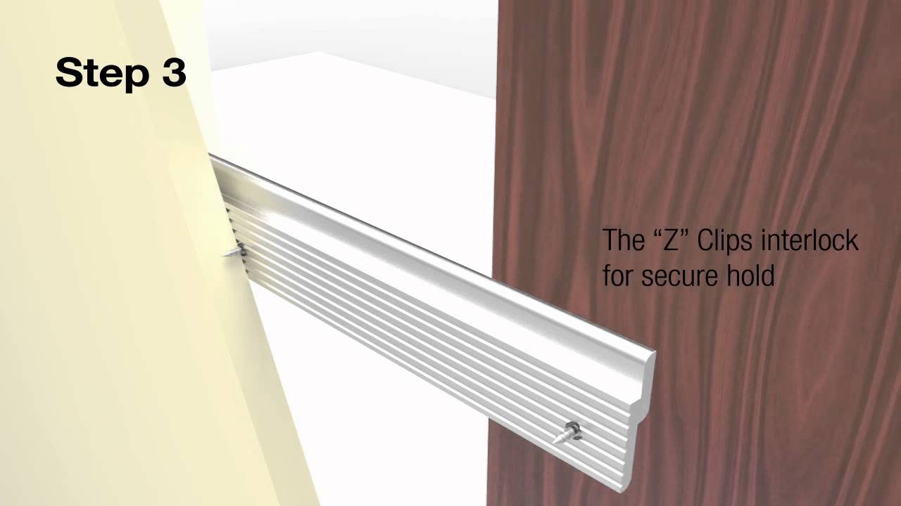 Aluminum Z Clip Panels For Hanging Systems Youtube