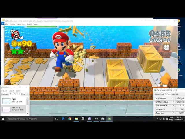 Super Mario 3d world no Cemu 1.6.2 (i3 2100+gtx 650)