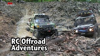 Muddy trails scale rc offroad 4x4 adventures