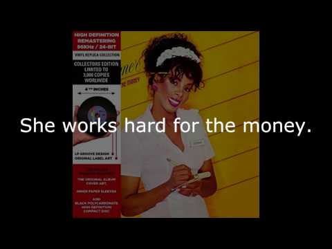 """Donna Summer - She Works Hard for the Money (7"""" Single) LYRICS SHM """"She Works Hard for the Money"""""""