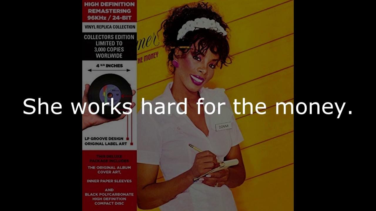 Donna Summer She Works Hard For The Money 7 Single Lyrics Shm