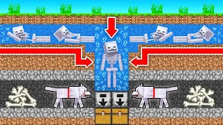 How to BUILD a Skeleton FARM! in Minecraft