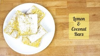 Lemon Coconut Bars - Recipe [delicious Food Adventures]