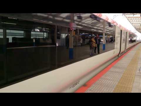 横浜駅に到着~停車中の成田エクスプレス Narita Express Yokohama Station arrival