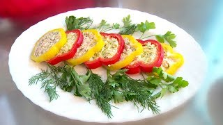"""""""Это вкусно"""" - готовим сладкий болгарский перец, фаршированный пикантной начинкой с сыром"""