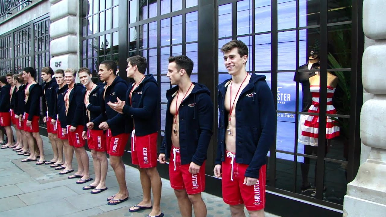 Hollister London opening store. - YouTube