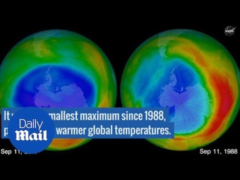 Warm air helped make the 2017 ozone hole smallest since 1988 - Daily Mail