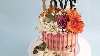 Naked Rustic Garden Flower Cake Tutorial