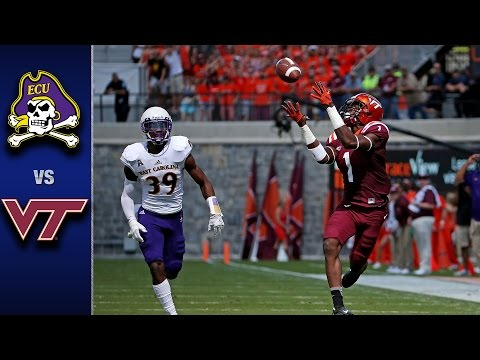 Virginia Tech vs. East Carolina Football Highlights (2016)