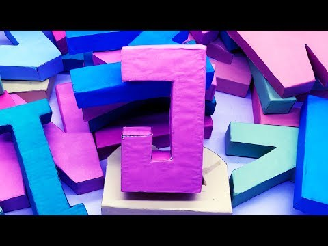 Origami Alphabet Letters Making | 3D Letter DIY | 5 Minutes Crafts & Toys