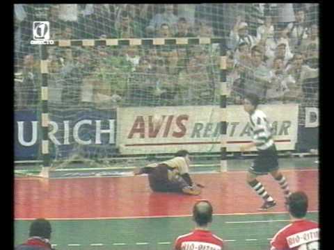 Futsal :: Sporting - 5 x Benfica - 5 (3-1 gp) de 2001/2002 Q/F da Taça de Portugal