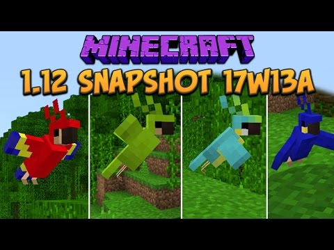 Minecraft 1.12 Snapshot 17w13a Pet Parrots! Advancements & Text To Speech