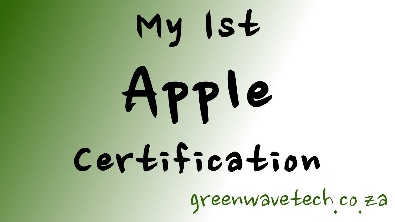My 1st apple certification youtube my 1st apple certification 1betcityfo Gallery