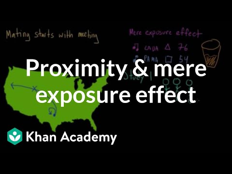 Proximity and the mere exposure effect | Individuals and Society | MCAT | Khan Academy