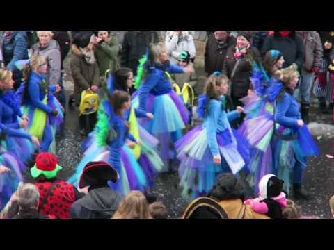 Rosenmontagszug in Lennep: Die Pfauen